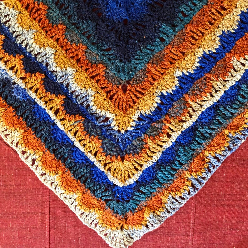 Essaouira Sunset Wrap Crochet Pattern image 0