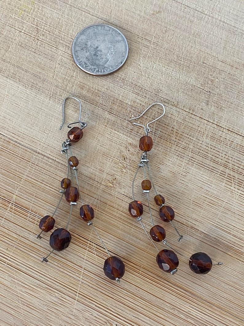Funky Elegant Beaded Dangle Earrings