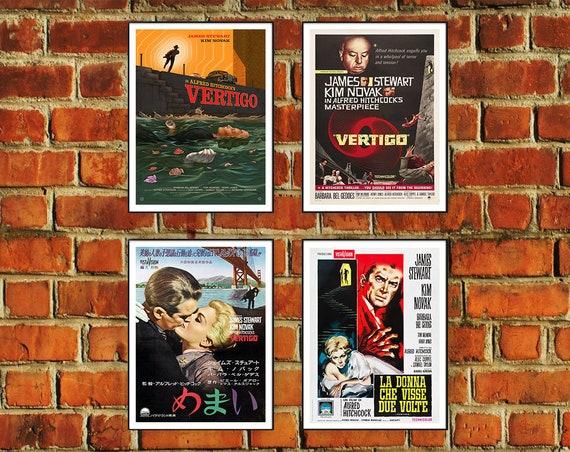 A1 VERTIGO A4 Home Wall Print A2 A3 Vintage Movie Film Poster