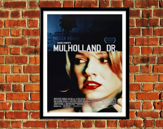 New Black Mulholland Drive Poster T-Shirt David Lynch Neo Noir Tee Hollywood