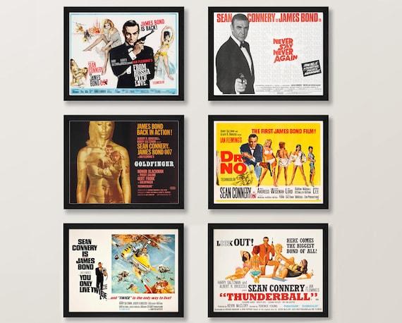 James Bond Movie Posters Sean Connery James Bond Poster Download Bond Art Poster Cinema Wall Art Old Film Poster Digital Movie Art Poster