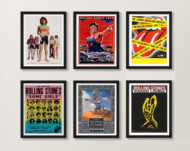 Rolling Stones Posters - Rolling Stones Albums Vintage Art Prints, Rolling  Stones Music Artwork, Rolling Stones Songs Art Posters Wall Art