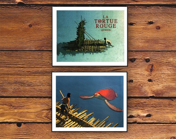 The Red Turtle Posters Download Ghibli Animated Film Toshio Etsy