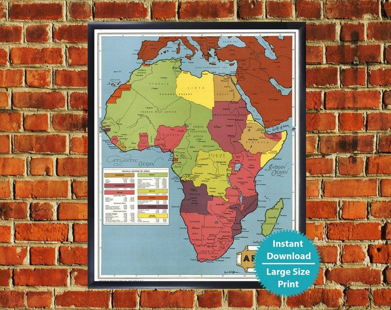 Political Map of Africa Art Print - Large Africa Wall Map, Africa Wall on map of africa food, map of africa updated, map of africa current, map of africa 2014, map of africa google, map of africa cdc, map of africa detailed, map of africa clear,