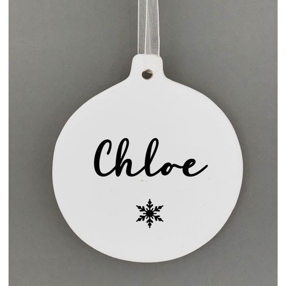 Personalised Ceramic Bauble Christmas Baubles Decorations Child S Christmas Christmas Decorations Christmas Gift Ideas Personalised Xmas