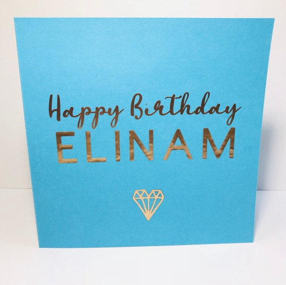 Personalised Birthday Card Special For Her Him Customised Cards Bespoke