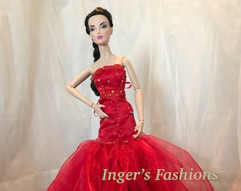 9e9f3510b4 Ooak Red Evening Gown