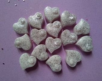 You Know Who You Are...6 Heart Shaped Wax Melts Handmade with Soy Wax and Fragranced with Bombshell