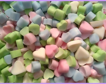 50 Mini Heart Melts Handmade using 100% Soy Wax and high quality Fragrance Oils...Just choose your Scent