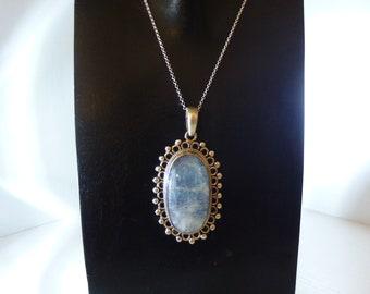 Pendant Moonstone on 925 Silver - labradorite, soon to be, Crystal healing