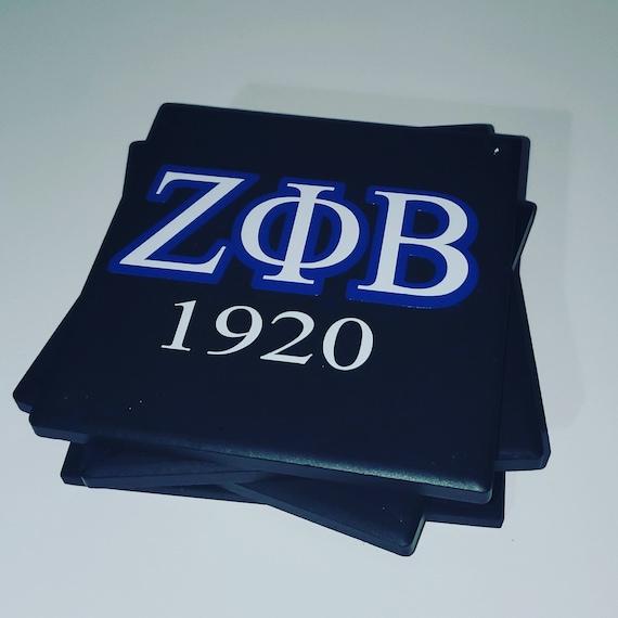 4 Zeta Phi Beta Sorority Classy Sassy Inspired Ceramic Coasters Set
