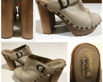 edb6bf3b31 Jeffrey Campbell / Designer Clogs / Charli-C / Made in Spain / Size 39 /  Miley Style / 2000s / 70s / Woodies / HELLA CUTE / Wooden Platform