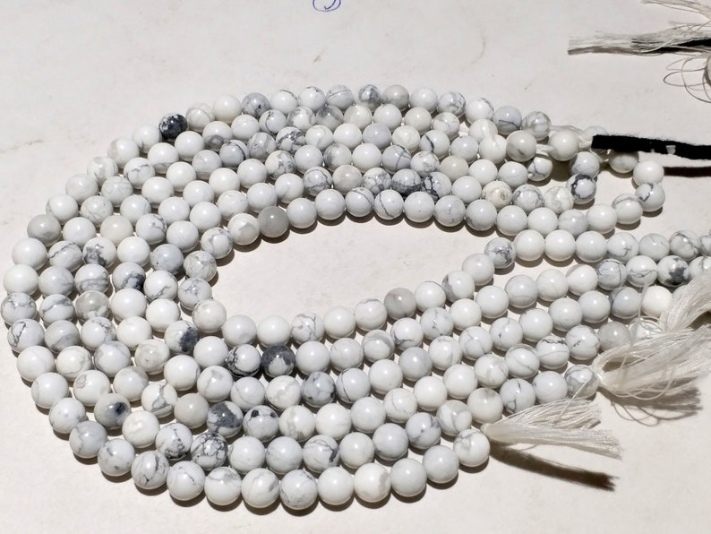 4.5-5mm Howlite Round Beads for Jewellery Making