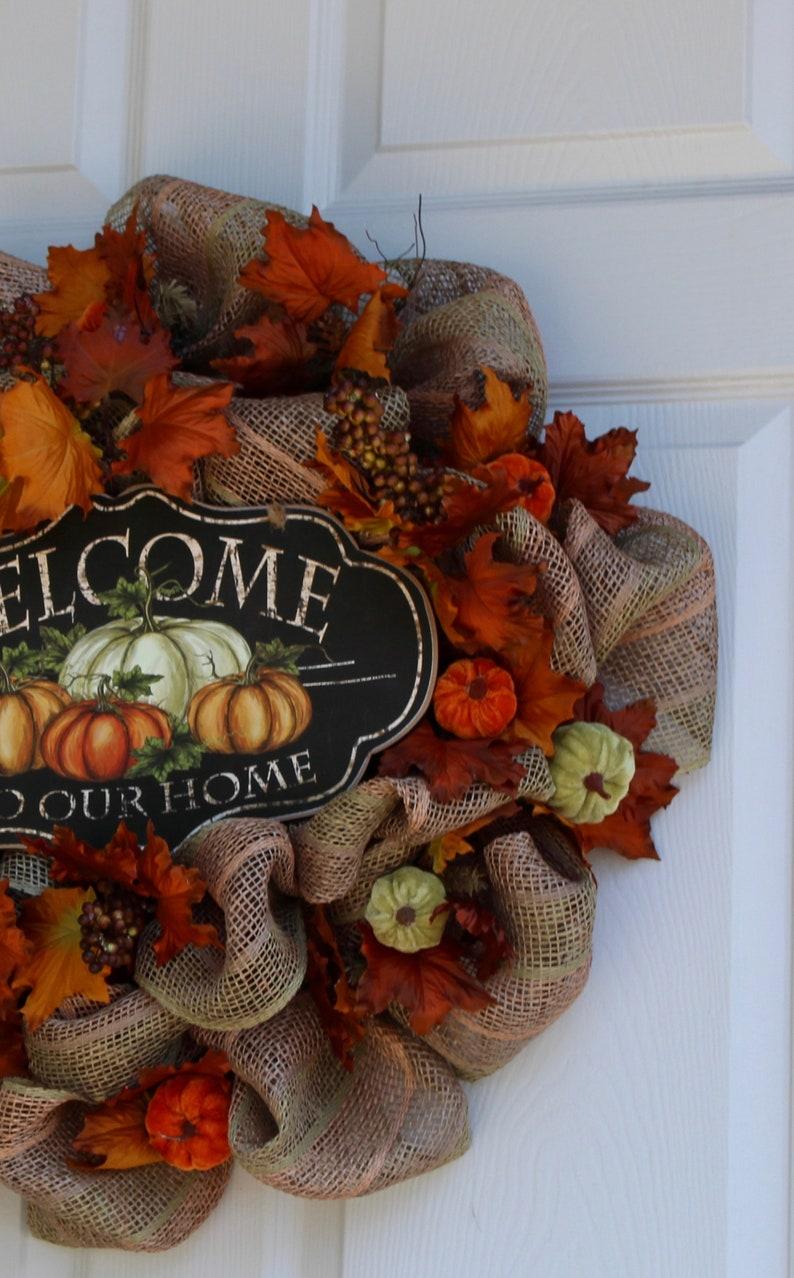 Front Door Wreath Fall Door Wreath Autumn Wreath Fall Decorations Welcome Wreath Best Fall Door Wreath Fall Wreath Autumn Door Wreath