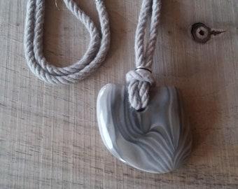 Striped flint necklace