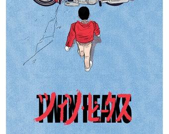 Twin Peaks + Akira A3 Print