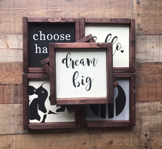 Small Hand Painted Wood Signs Farmhouse Home Decor Kitchen