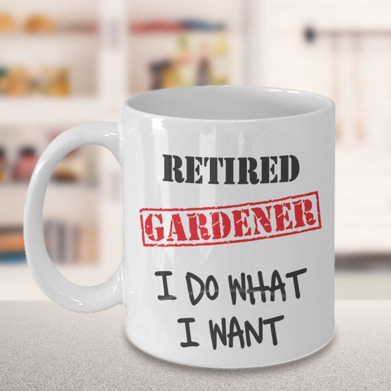 Retirement Gift For Gardener Retired Gardening Coffee Mug | Etsy