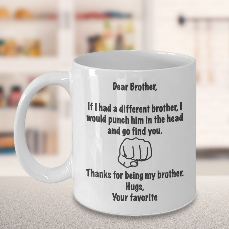 Gift For Brother From Sister Coffee Mug Bro