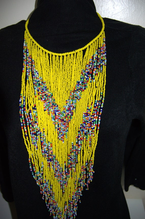 Stylish On SALE African White Beaded Multicolored Necklace| Maasai Choker Gift Her Masai Mara