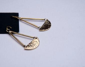 On SALE Handmade Brass Earrings | Polished Brass  | African Earrings | For Her | Swing Design
