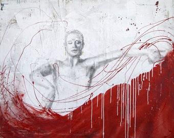 Flamenco dancer, painting Flemish collection