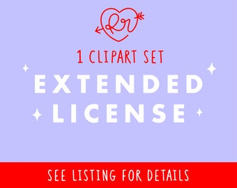 Extended License for 1 Clipart Set by RxRdesign