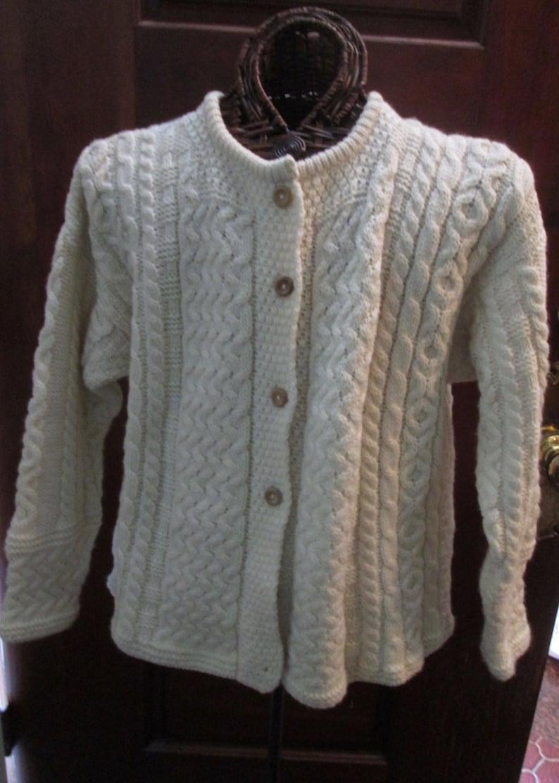 e9e29beb1 HAND-KNIT Irish Fisherman Knit Sweater Ladies Medium