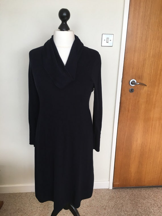 Navy betty barclay knitted dresss