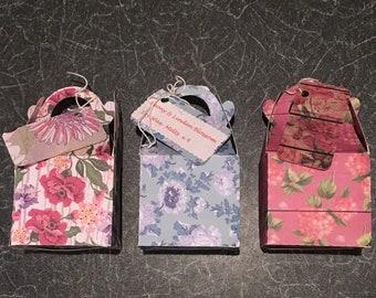 4 Heart-shaped Peony&Linden Blossom Soy wax melts in handmade gift box