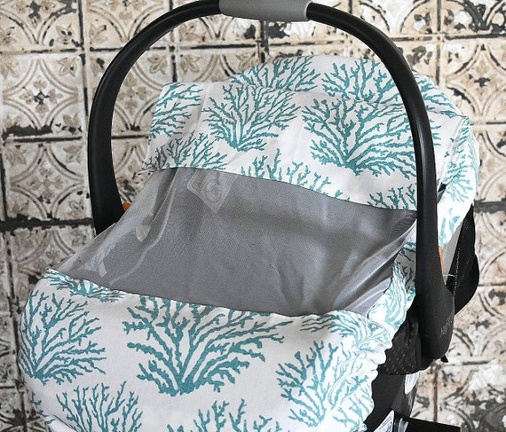 Astounding Blue Coral Reef Duck Cloth Sun Bug Cover For Baby Baby Cover Baby Wearing Baby Shower Gift Baby Wearing Cover Baby Car Seat Cover Ocoug Best Dining Table And Chair Ideas Images Ocougorg