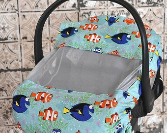 Finding Nemo, Fish, Sun & Bug Cover for Baby, Baby Cover, Baby Wearing, Baby Shower Gift, Baby Wearing Cover, Baby Car Seat Cover