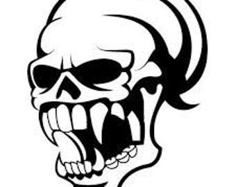 Sinister Skull Vinyl Decal
