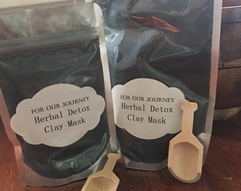 Activated charcoal & herbal detox mask