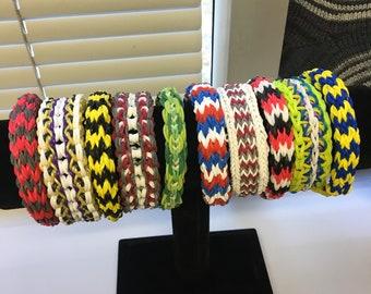 Handmade Rainbow Loom bracelets