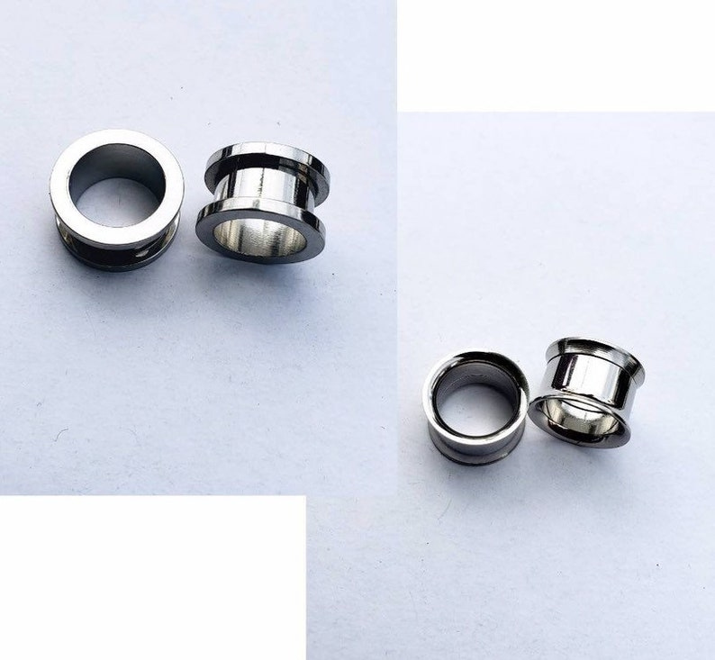metal tunnels surgical steel ear stretchers tappers 8g Silver color ear plugs 1 inch 3mm 25mm