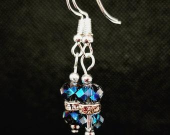 Double Crystal Drop Earrings