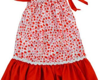 Little girls pollowcase dress and headband set.