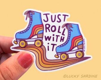 WINGS Roller Skating Vinyl Decal Sticker C