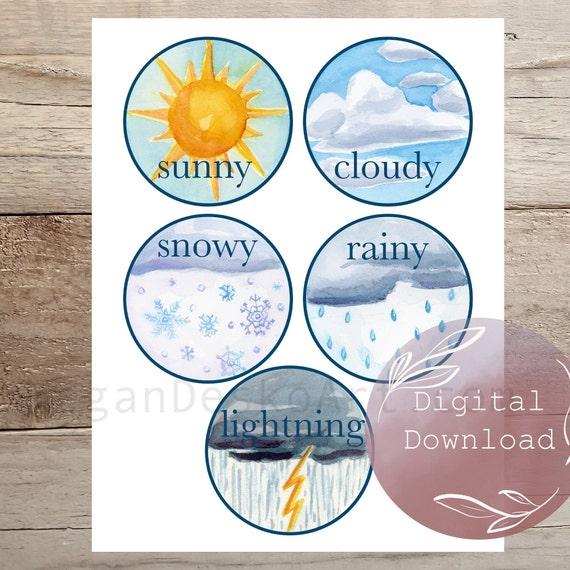 Digital Download Mini Watercolor Nature Calendar Kit 8.5x11in