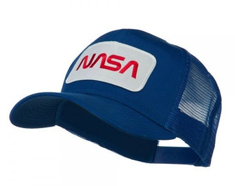 NASA Logo Embroidered Patched Mesh Back Cap a53dd8f85804