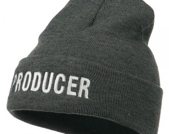 1853d5a3250 Producer Embroidered Long Beanie
