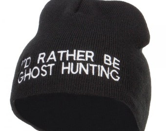 I d Rather Be Ghost Hunting Long Beanie   Short Beanie 3c8d1f11ad