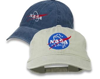 a8ede5c353e NASA Insignia Logo Embroidered Pigment Dyed Cap