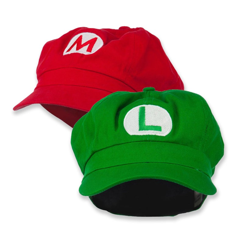 Big Size Mario and Luigi Embroidered Cotton Newsboy Cap  9812cd81669f