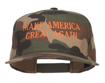 Camo Make America Great Again Embroidered Snapback