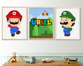 Super mario wall art | Etsy