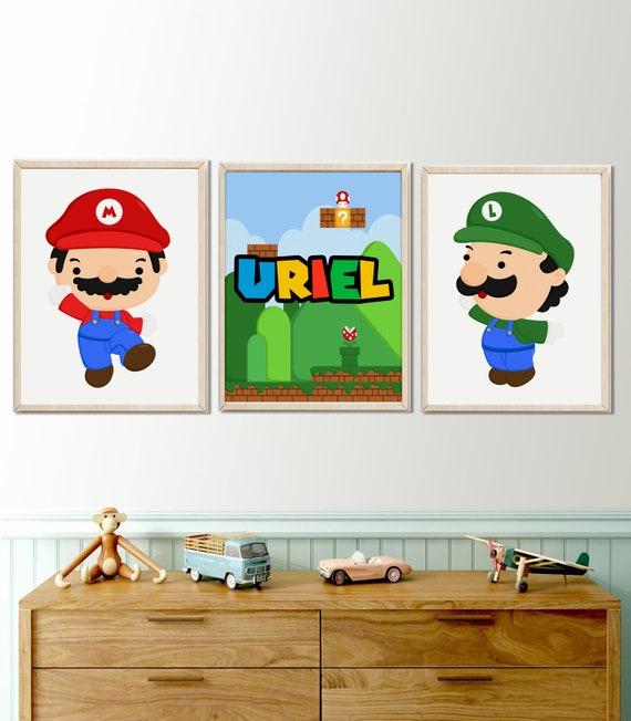 Set aus 3 Super Mario drucken, Kinderzimmer Dekor, Printable download,  Mario minimalistisch Kunstdruck, jungen-Kinderzimmer-Wand-Kunst, Super ...