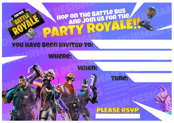 photo about Printable Fortnite identified as No cost Printable Fortnite Get together Invites Fortnite Cheat 2019
