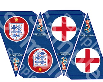England World Cup Banners 2018 Fifa bunting